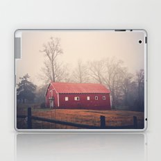 Little Red Barn in the Fog Laptop & iPad Skin