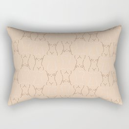 Nude, nudes line drawing/ pattern of female body Rectangular Pillow