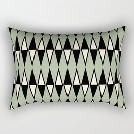 Mid Century Modern Diamond Pattern Sage Green 234 Rectangular Pillow