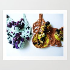 Purple Beaded Mist and Harvest Lace Photography Art Print