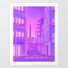 Asakusa Lights Art Print