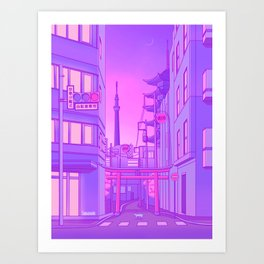 Asakusa Lights Art Print