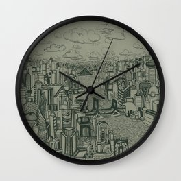 Your typical city involved in your typical daydream Wall Clock