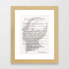 The Argument Framed Art Print