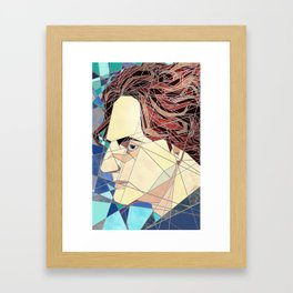 Adrien Stained Glass Framed Art Print
