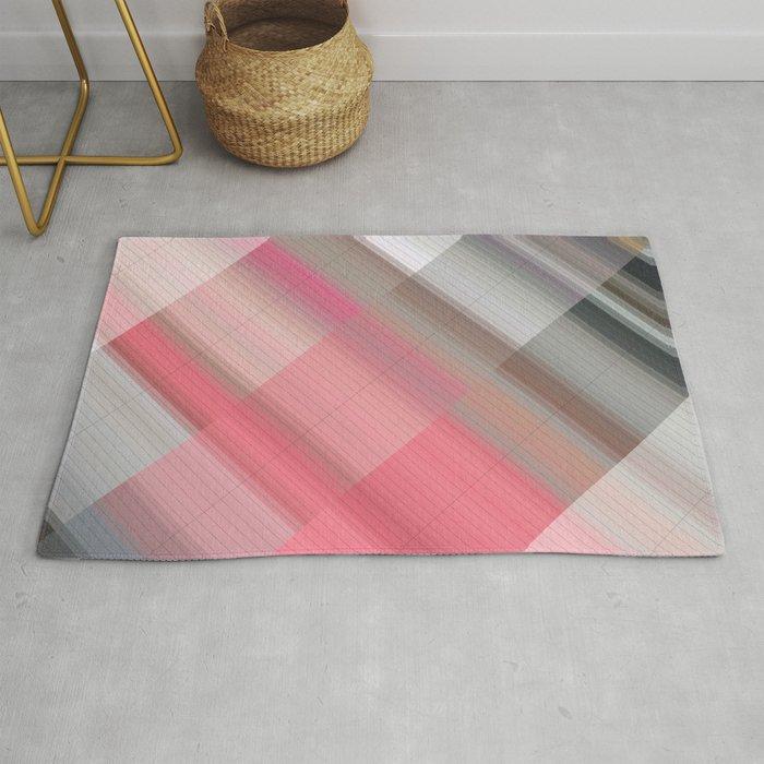 Raspberry Ice Cream Abstract Gradient Art Geometric Background