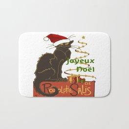 Joyeux Noel Le Chat Noir Christmas Parody Bath Mat