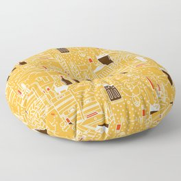 Beer Pattern | Oktoberfest Hops Malt Brewery Floor Pillow