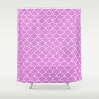 fancy Shower Curtains featuring Fancy Waves by Elena Indolfi