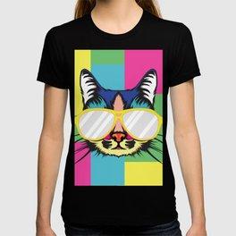 Cat Pop Art Portrait T-shirt