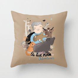 The Last Man in Fukushima Throw Pillow