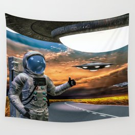 Hitchhiking Around The Universe Wall Tapestry