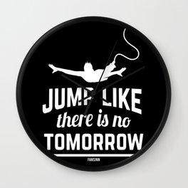funny bungee jumping award Wall Clock