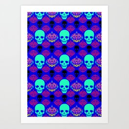 Skull pattern I Art Print
