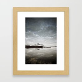 At the pond. Framed Art Print