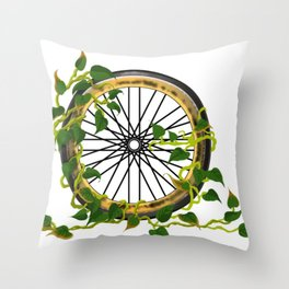 Ride On Ivy Throw Pillow