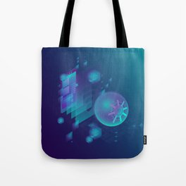 ABSTRACT SCIENCE TECHNOLOGY DESIGN Tote Bag