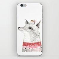 mr fox iPhone & iPod Skins featuring Mr. Fox by missmalagata