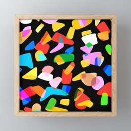 so many shapes Framed Mini Art Print