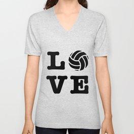 I Love Volleyball Unisex V-Neck