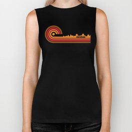 Retro Style Anchorage Alaska Skyline Biker Tank