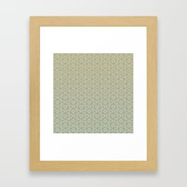 Tessellation - Culture Clash - Polytone Khaki / Sea-green Framed Art Print