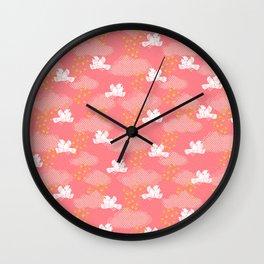 Rain Birds - Pink Wall Clock