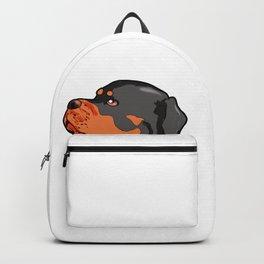 Rottweiler Dog Doggie Puppy Present Gift Backpack
