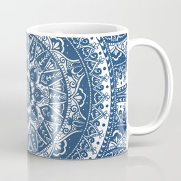 Blue Mandala Pattern Coffee Mug