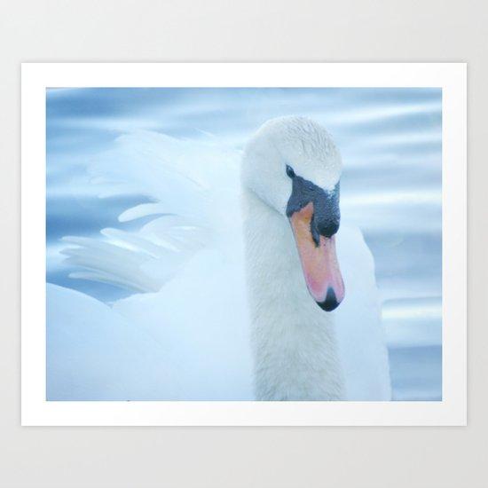 But calm, white calm, was born into a swan. ~E. Coatsworth Art Print
