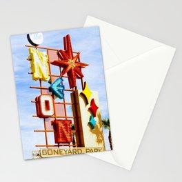 Neon Boneyard Stationery Cards