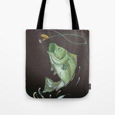 Bass Jumping At Night Tote Bag