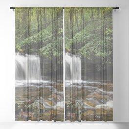 Appalachian Waterfall VII - Ricketts Glen Adventure Sheer Curtain