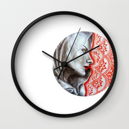 Lady of the Lotuses Wall Clock