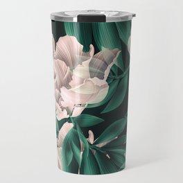 Blooming pink large flowers Travel Mug