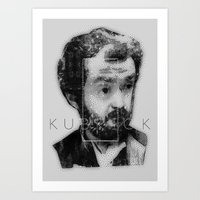 kubrick Art Prints featuring kubrick by Levvvel