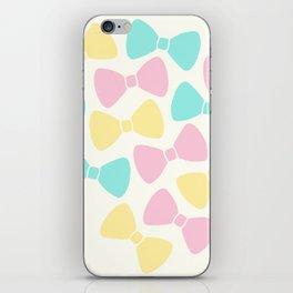 Pastel Bows iPhone Skin