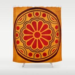 Kamon Alma – Gold Shower Curtain