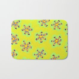 Yellow Emily Rose Bath Mat