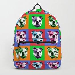 Pop Art English Bulldog Backpack