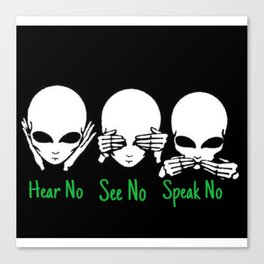 Hear No See No Canvas Print