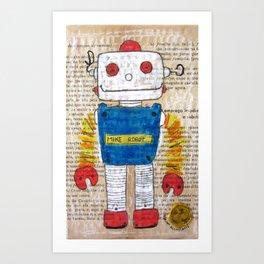 ROBOT 5 Art Print