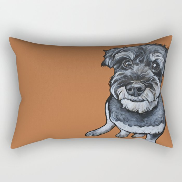 Frankie the Schnoodle Rectangular Pillow