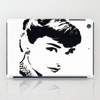hepburn iPad Cases featuring Audrey Hepburn by Saundra Myles