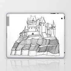 Castle on the cliff Laptop & iPad Skin