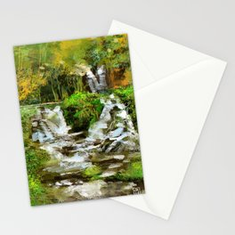 Waterfall Illustration  Stationery Cards