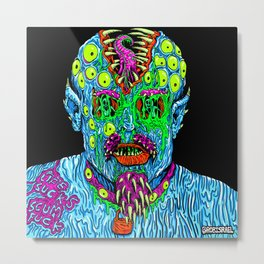 Punk Monster Metal Print