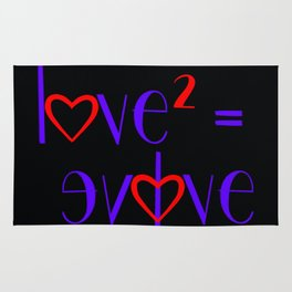 Give Love, Be Love & Evolve Rug