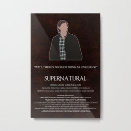 Supernatural - Sam Winchester Metal Print