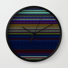 Blue Rag Weave by Chris Sparks Wall Clock